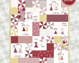 Instant Download- You + Me Quilt Pattern. Ladybug Mania Fabric. meags & me quilt pattern. Me without you quilt