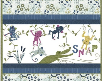PRE-ORDER for 11/10/21 SHIPMENT: 5 Little Monkeys. Applique and Embroidery