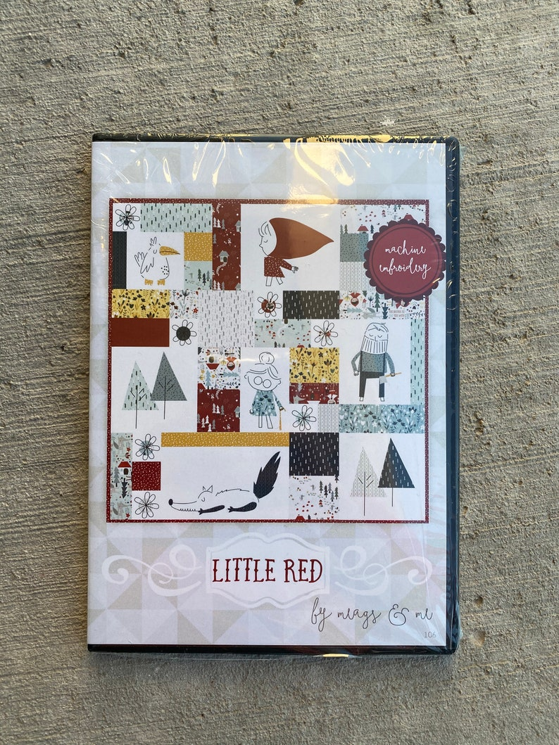 CDROM-Little Red. Machine Embroidery Quilt Pattern.  Applique image 0