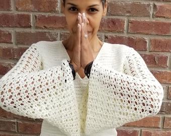 688bea7c3adb64 Crochet Top Pattern - Crochet Clothing Pattern - Bell Sleeve Top - Crochet  Shirt Pattern - Plus Size Crochet - PDF Crochet Pattern GuChet