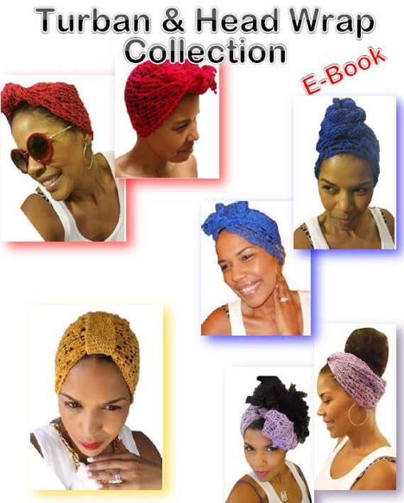 Crochet Head Wrap & Turban Pattern COLLECTION Crochet Turban | Etsy