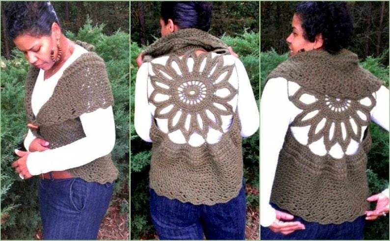 Crochet Vest Pattern Circular Vest Crochet Pattern Plus Size Etsy
