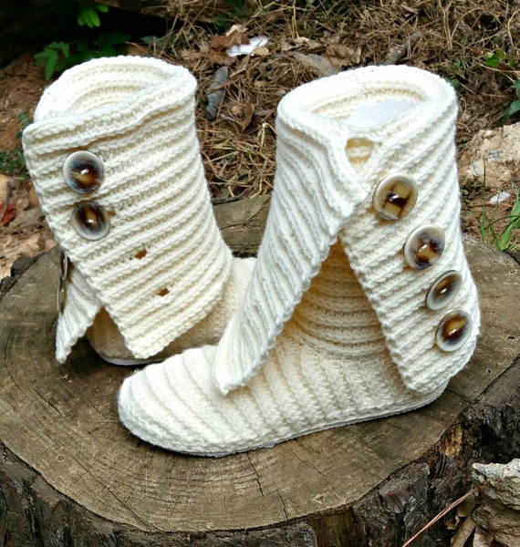 Crochet Boot Pattern - Boot Crochet Pattern - Crochet Slipper ...