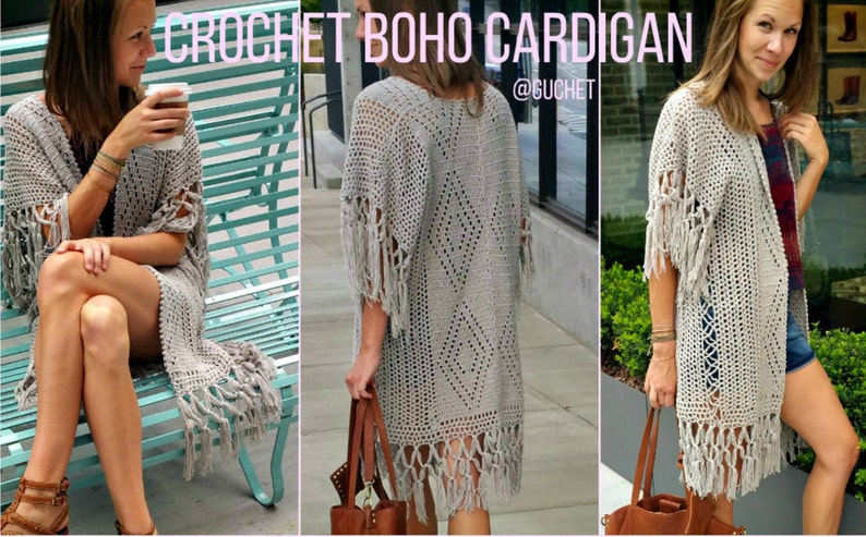 Crochet Cardigan Pattern Crochet Poncho Pattern Plus Size Etsy
