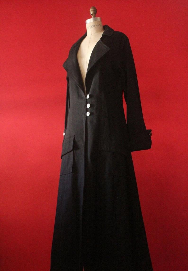 Vintage 90's Black Goth Long Vampire Coat by Redballs image 0