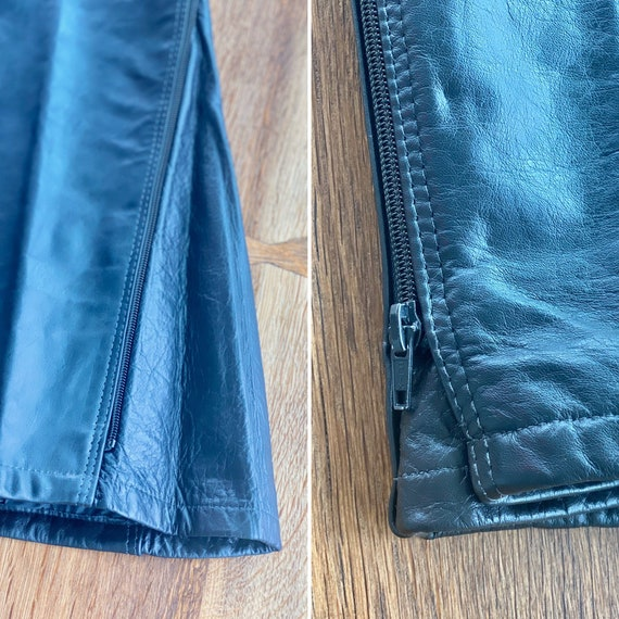 90s Leather Pant  - 90s Leather Trouser - Vintage… - image 10