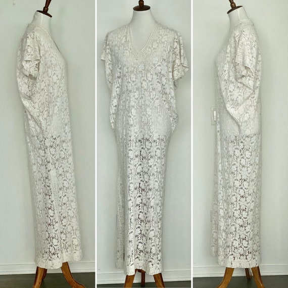 Vintage Christian Dior Loungewear Dress - 70s Chri