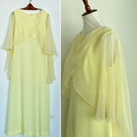 70s evening dress - 70s Maxi Dress - Vintage Yello