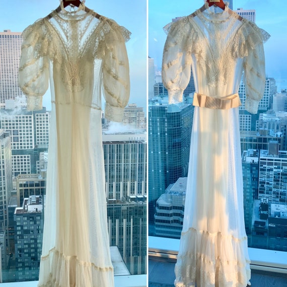 Edwardian Wedding Dress - Edwardian Dress - Vinta… - image 3