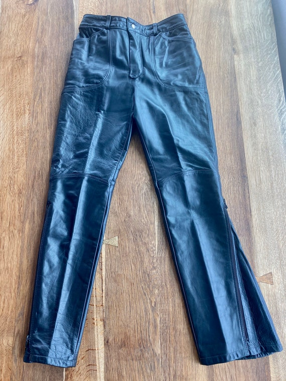 90s Leather Pant  - 90s Leather Trouser - Vintage… - image 5