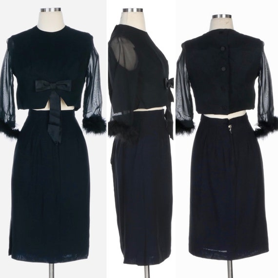 50s Skirt Suit - 50s Empire Waist Skirt Suit - 195