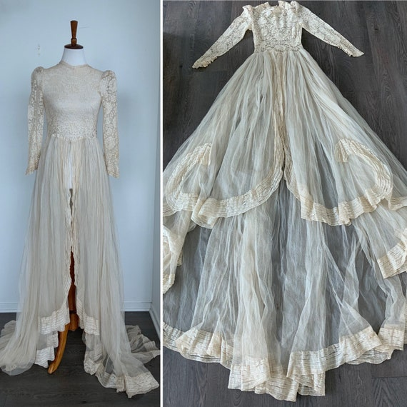 Late 30s Wedding Dress - Vintage Wedding Dress - A