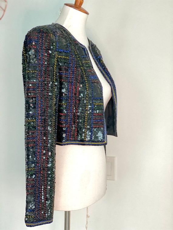 Vintage Sequin Bolero - Vintage Sequin Jacket - 70