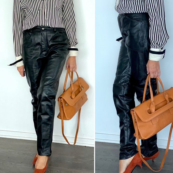 90s Leather Pant  - 90s Leather Trouser - Vintage… - image 2