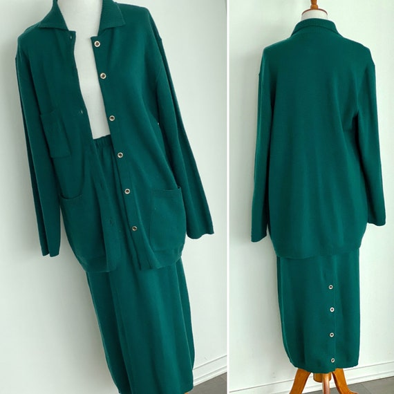 Joseph Wool Skirt and Cardigan - Joseph Skirt Suit