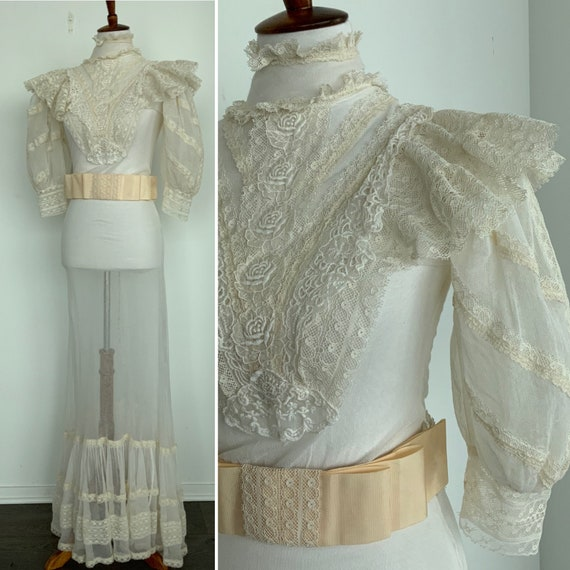 Edwardian Wedding Dress - Edwardian Dress - Vinta… - image 4