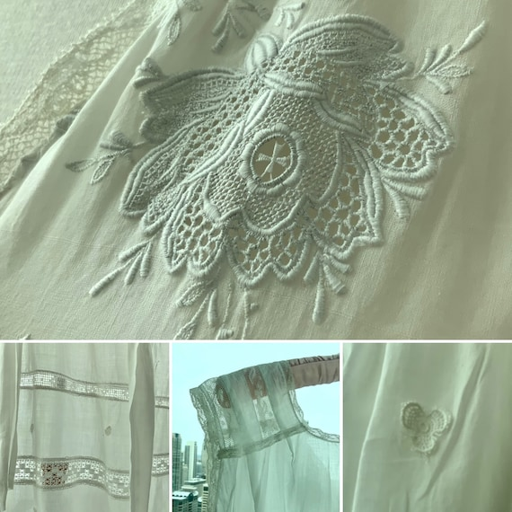 Edwardian Day Dress - Edwardian White Cotton Day … - image 5