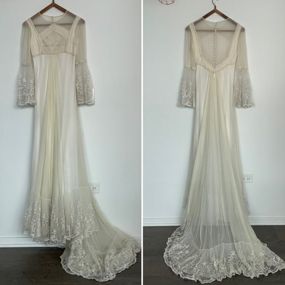 70s Wedding Dress - 1970s Wedding Dress - Vintage
