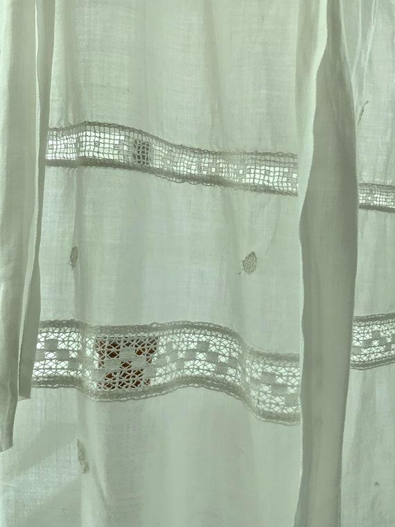 Edwardian Day Dress - Edwardian White Cotton Day … - image 10