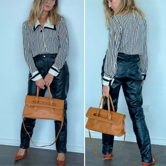 90s Leather Pant  - 90s Leather Trouser - Vintage… - image 1