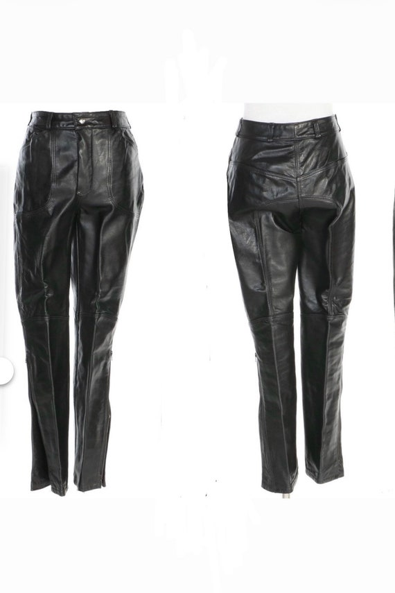 90s Leather Pant  - 90s Leather Trouser - Vintage… - image 3