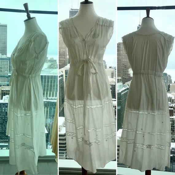Edwardian Day Dress - Edwardian White Cotton Day … - image 3