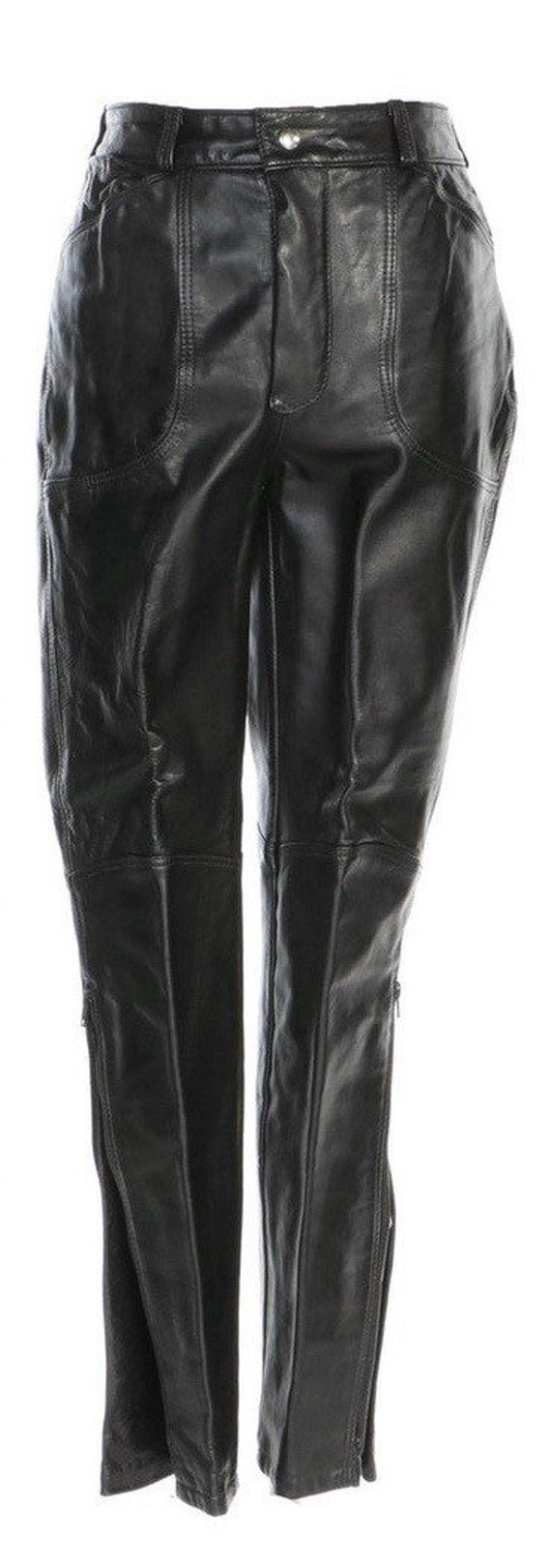 90s Leather Pant  - 90s Leather Trouser - Vintage… - image 4