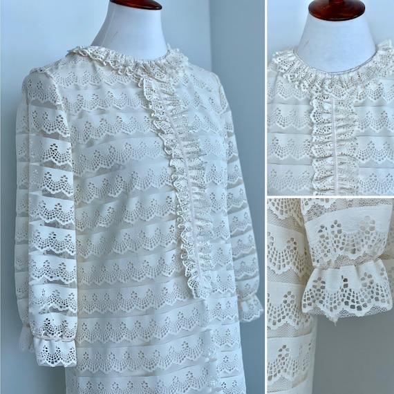 Jane Andre California Dress - 60s White Dress - 60