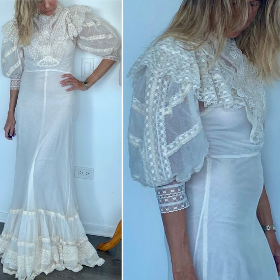 Edwardian Wedding Dress - Edwardian Dress - Vintag
