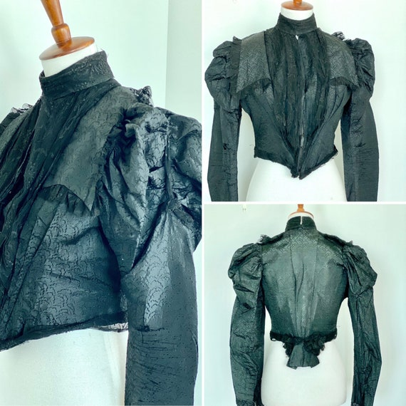 Victorian Mourning Bodice - Victorian bodice - Vic