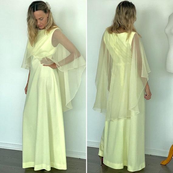 70s evening dress - 70s Maxi Dress - Vintage Yello