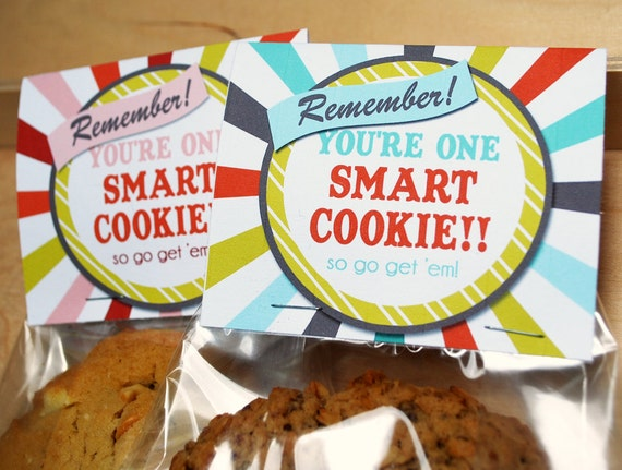 picture about You're One Smart Cookie Printable named Printable Wise Cookie Topper, Blue, Immediate Obtain Fantastic Luck upon Checks Finals, JPEG record