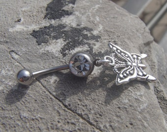 Butterfly Belly Ring Inspired by the Tear Asunder Series by Nashoda Rose
