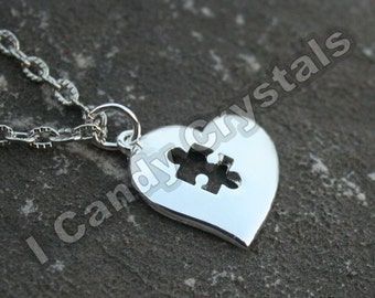 Autism Awareness Puzzle Necklace