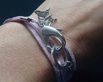 Butterfly Faux Suede Wrap Bracelet Inspired by the Tear Asunder Series by Nashoda Rose