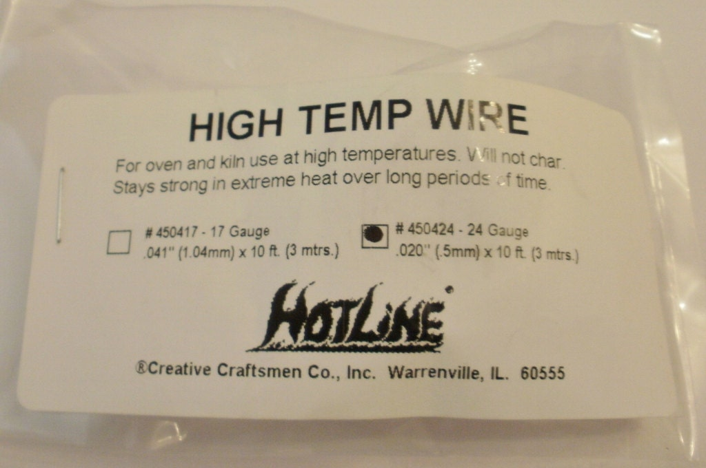 Glass & Ceramic Fusing 24 Gauge High Temp Wire for Hangers