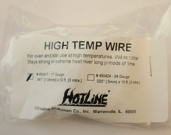 17 Gauge High Temp Wire for Glass Fusing and Kiln