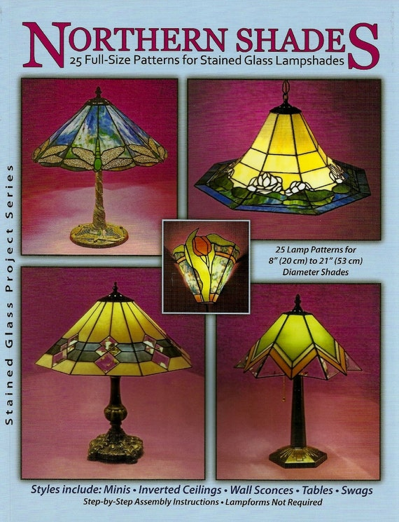 Stained Glass Lampshade Patterns.Northern Shades Stained Glass Lampshade Patterns Awesome Lamp Shade Patterns
