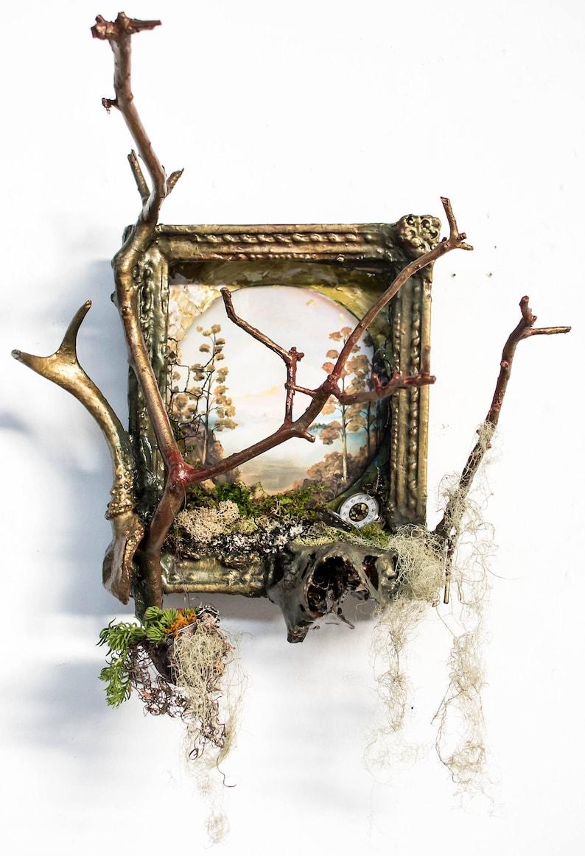 Roots of the Fea Spirit Hanging Succulent Planter Deer Skull image 0