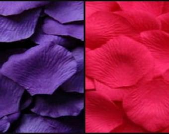 300 PUNCH Pink & 200 Purple Silk Artificial Rose Petals Wedding Favor Decoraition Flower Girl