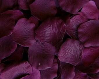 500 Plum PURPLE Silk Artificial Rose Petals Wedding Favor Decoraition Flower Girl