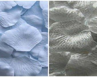 Silk Rose Petals 300 Sky Blue 200 Sterling Silver Wedding Decorations Flower Girl Basket