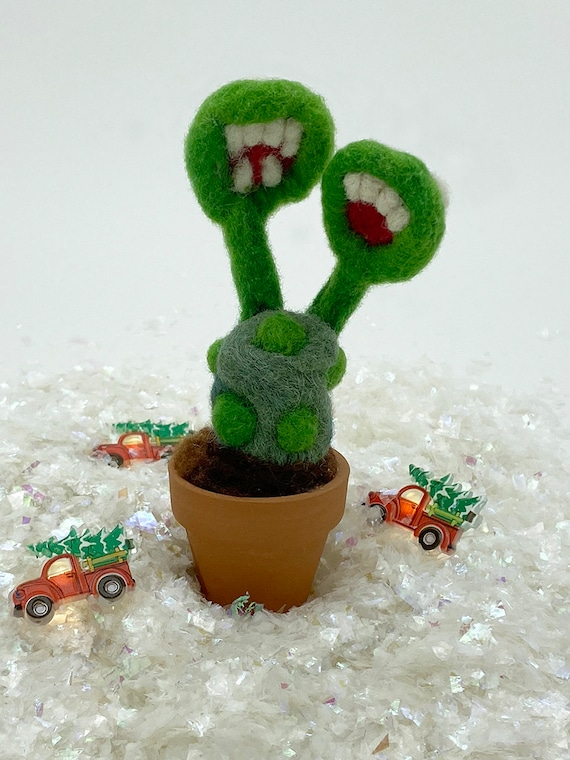 Felted Cactus Monsterosa Double