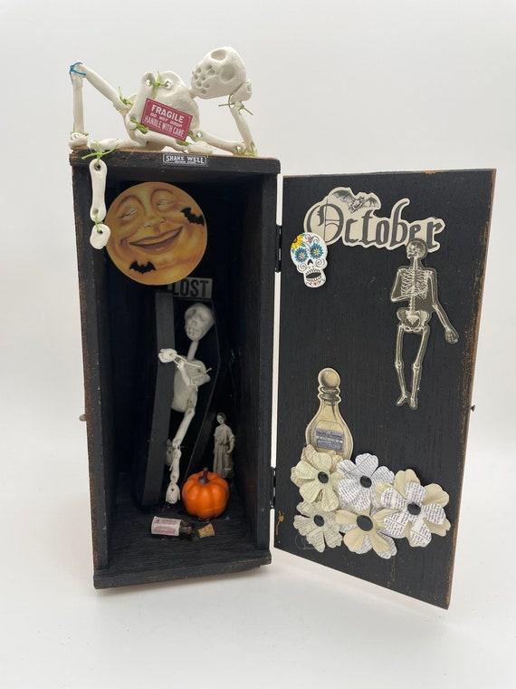 Halloween Altered microscope box assemblage art