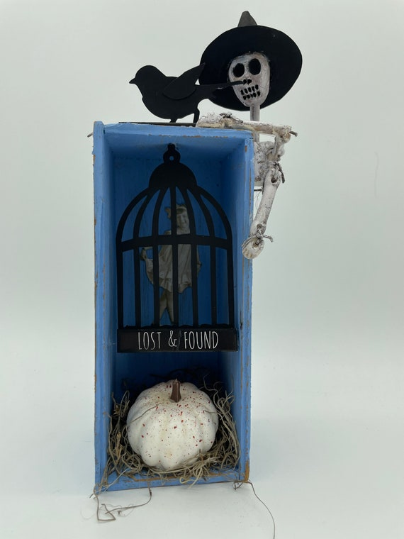 Hocus Pocus Altered butter box assemblage mixed media art