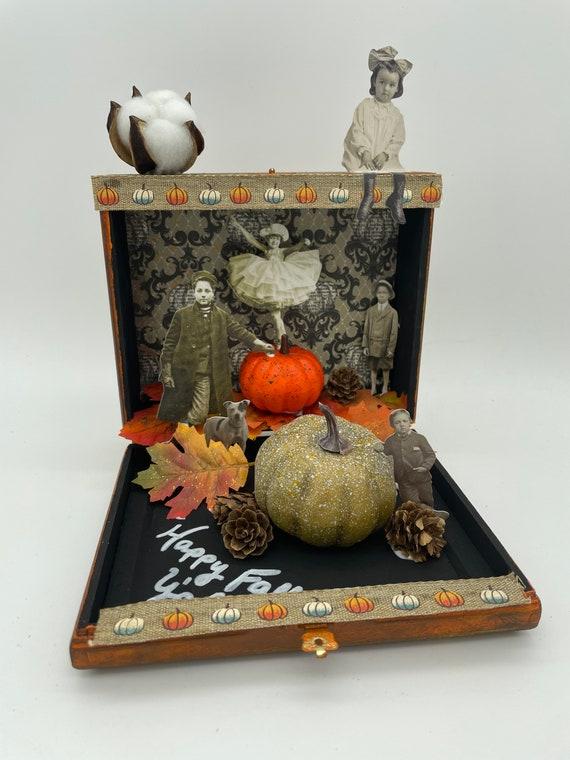 Happy Fall, Y'all altered cigar box art
