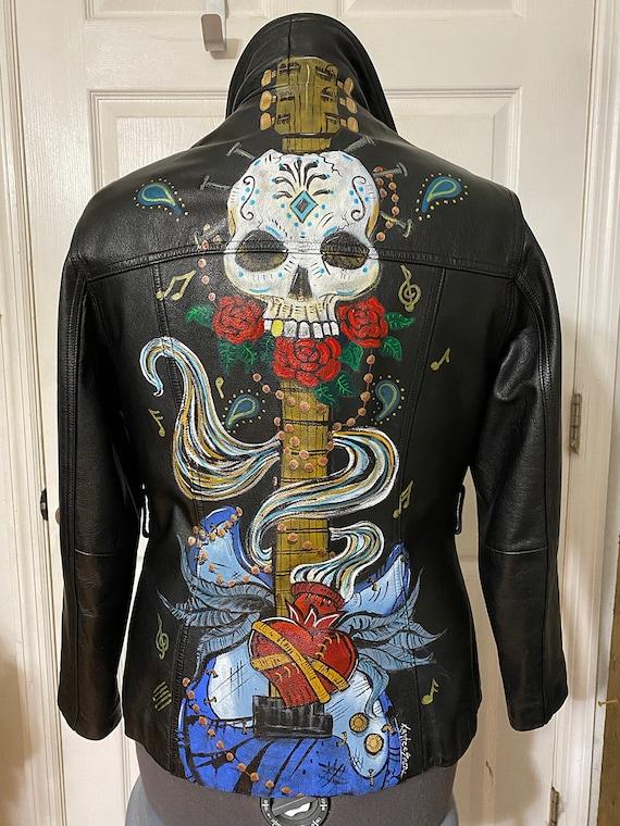Vintage Painted Leather Jacket
