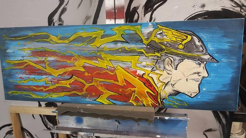 Kunstverkauf Jay Garrick Flash Original Gemälde Etsy