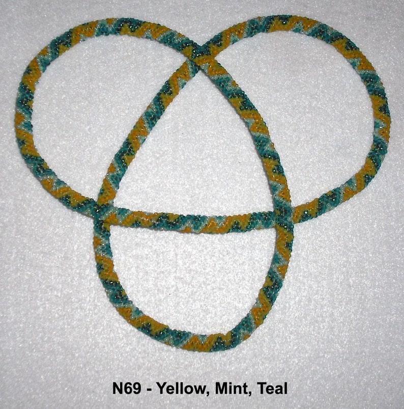 Peyote Stitch Rope Necklace or Loop Bracelet Slip Over Head Jewelry Beadwork Beading Glass Seed Beads