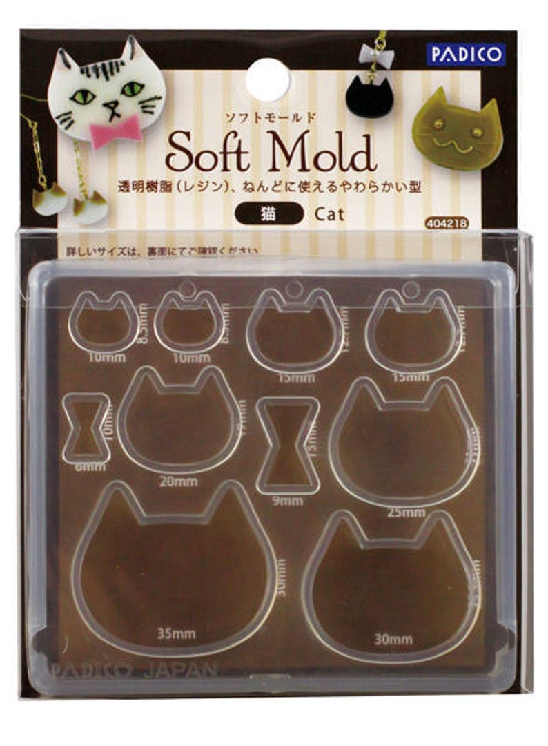 Padico cat mold/Cat flexible mold/Cat mold for resin/Cat mold for DIY  jewelry/Padico flexible mold/Padico soft mold / Padico jewelry mold